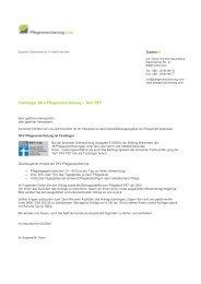 Testsieger DKV Pflegeversicherung – Tarif PET - Private ...