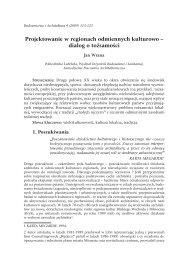Projektowanie w regionach odmiennych kulturowo – dialog o ...