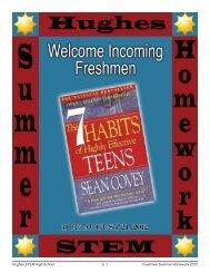 Summer Homework Book.indd - Hughes STEM High School