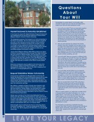 LEAVE YOUR LEGACY - Clarion University