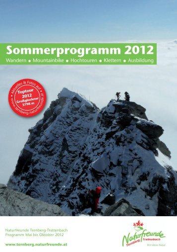 Sommerprogramm 2012 - Ternberg-Trattenbach - Naturfreunde