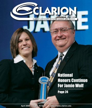 National Honors Continue For Jamie Wolf - Clarion University