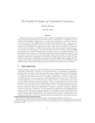 The Parallel Postulate in Constructive Geometry - Michael Beeson's ...