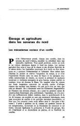 Elevage et agriculture dans les savanes du Nord - Politique Africaine