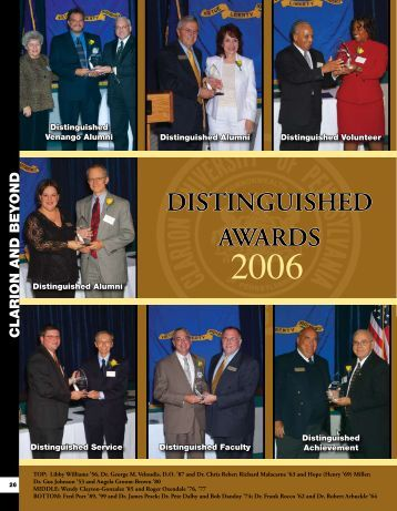 DISTINGUISHED AWARDS - Clarion University