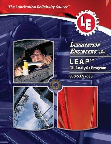 LEAP Brochure (User's Guide) - Lubrication Engineers, Inc.