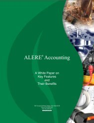 ALERE Features and Benefits - TIW Technology, Inc.