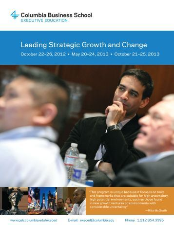Leading Strategic Growth and Change - Columbia Business School