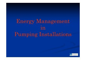 pumping - Society of Energy Engineers Managers