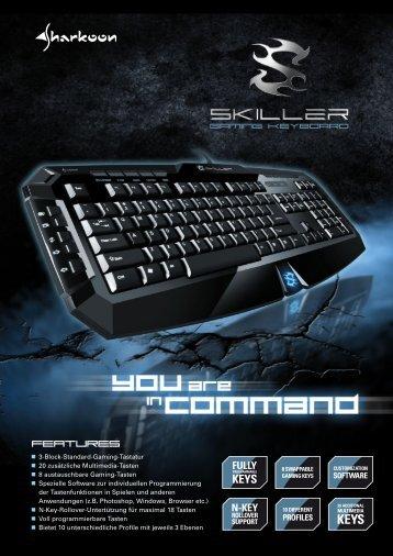 3-Block-Standard-Gaming-Tastatur 20 zusätzliche ... - Sharkoon