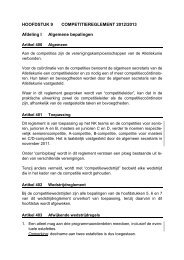 Competitiereglement 03-01-2012 DEFINITIEF