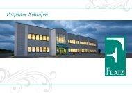 Perfektes Schlafen - FLAIZ Polstermöbel GmbH