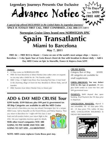 05 07 2011 Epic Transatlantic - Legendary Journeys