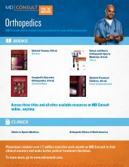 MD Consult Orthopedic Flyer