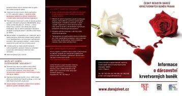Informace o dárcovství krvetvorných buněk (PDF)