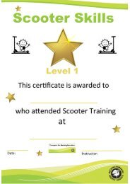 Scooter Skills Level 1 Certificate