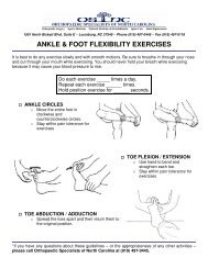 ankle & foot flexibility exercises - Orthopaedic Specialists of North ...