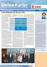 Unionkurier - CDU-Kreisverband Bonn