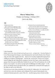 Psalm 16 - Gott in der Mitte