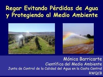 Regar Evitando Pérdidas de Agua y Protegiendo al Medio Ambiente