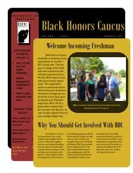 BHC August 2011 Newsletter - Honors College - University of ...