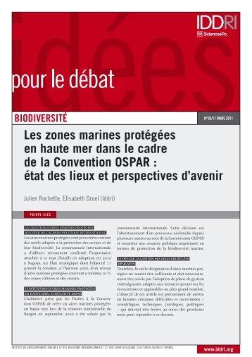 Les zones marines protégées en haute mer dans le cadre de ... - Iddri