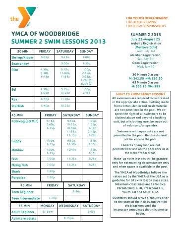 Summer 2 Swim Lessons Flyer