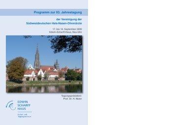 Programm zur 93. Jahrestagung - Vereinigung Südwestdeutscher ...