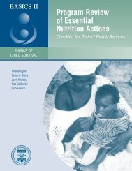 Program Review of Essential Nutrition Actions: Checklist for ... - basics