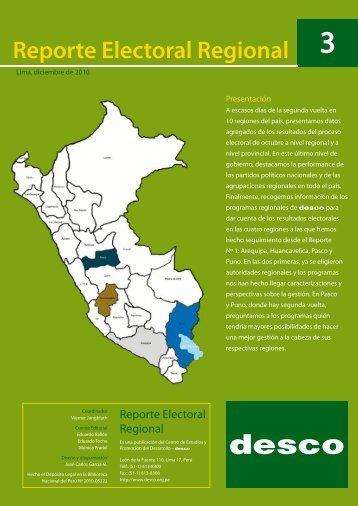 Reporte Electoral Regional 3 - Desco