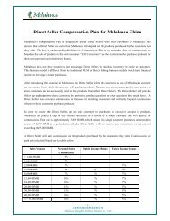 Direct Seller Compensation Plan for Melaleuca China