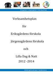 Verksamhetsplan 2012-2014