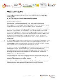 Pressemitteilung Unternehmensprämierung - Perspektive 50plus