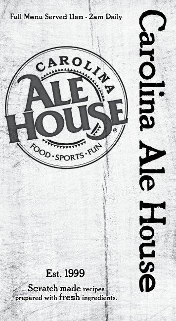 Download Menu   Carolina Ale House