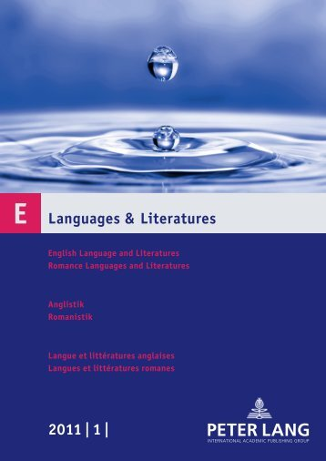 Languages & Literatures 2011 | 1 | - Peter Lang