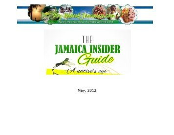 Table Of Contents - My Island Jamaica
