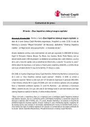 05 iunie - Ziua impotriva violentei asupra copilului - Salvati Copiii