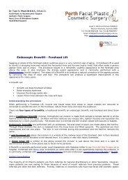 Download Brochure -  Perth Facial Plastic Cosmetic Surgery