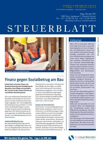 Steuerblatt 4/2011 - tax-austria.at