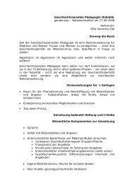 Geschlechtssensible Pädagogik/Didaktik gendernow ...