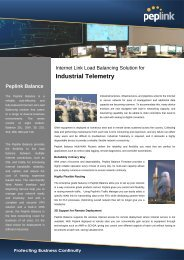 Industrial Telemetry Peplink Balance