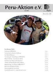 Unverhofft kommt oft - manchmal auch zu uns - Peru-Aktion
