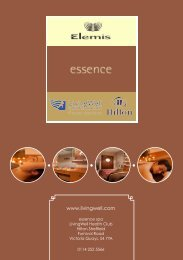 Essence Spa Brochure - Hilton