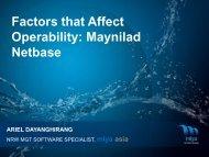 Factors that Affect Operability - Iwa-waterloss.org