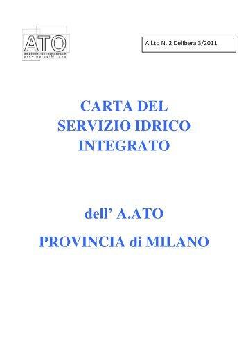 Carta del Servizio Idrico Integrato - Comune di Bollate