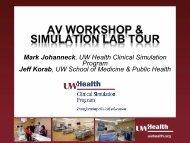 HPSN Midwest AV Workshop and Simulation Lab Tour (pdf)
