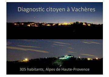 Diagnostic citoyen à Vachères - Observatoire de Haute-Provence
