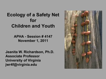 Ecology of a Safety Net for Children and Youth: Applying the Public ...