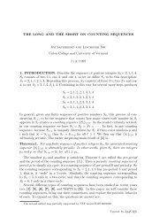 The Long and Short of Counting Sequences