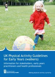 UK Physical Activity Guidelines for Early Years (walkers)